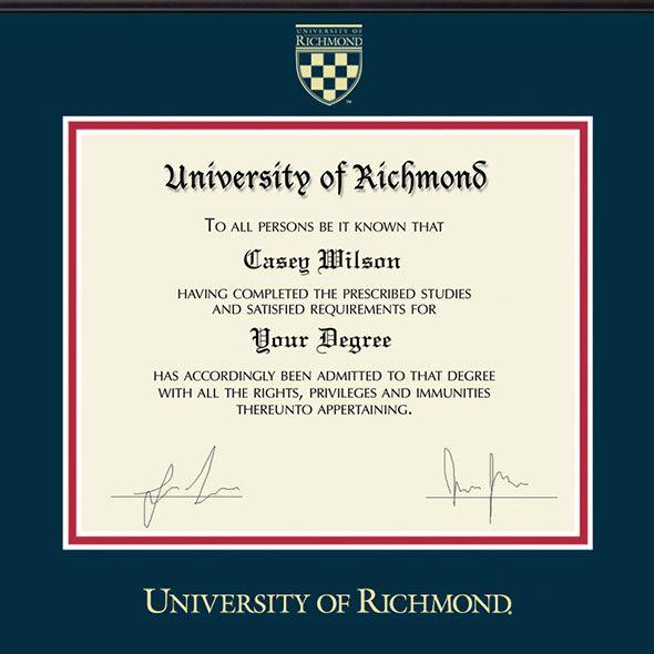 University of Richmond Diploma Frame, the Fidelitas - Image 2