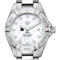 New York University W's TAG Heuer Steel Aquaracer w MOP Dia Dial