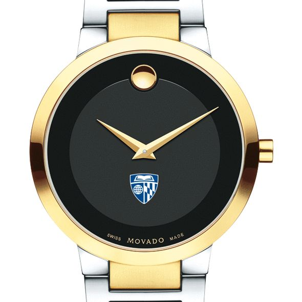Johns Hopkins University Men's Movado Two-Tone Modern Classic Museum with Bracelet - Image 1