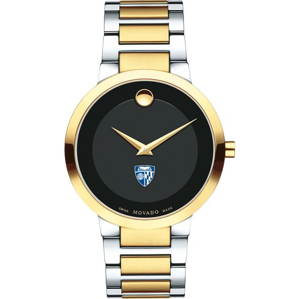 Johns Hopkins University Men's Movado Two-Tone Modern Classic Museum with Bracelet - Image 2