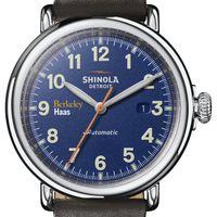Berkeley Haas Shinola Watch, The Runwell Automatic 45mm Royal Blue Dial