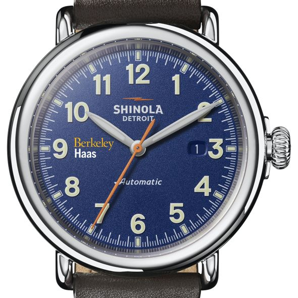 Berkeley Haas Shinola Watch, The Runwell Automatic 45mm Royal Blue Dial - Image 1