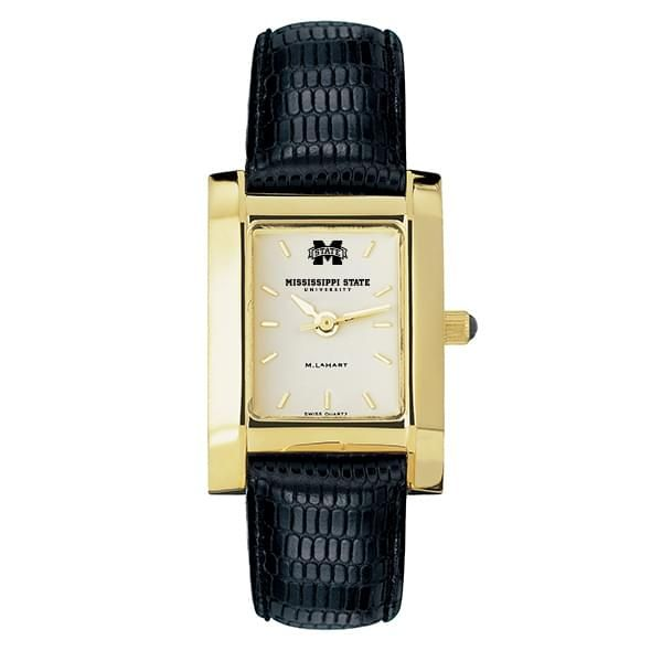 Mississippi State Women's Gold Quad with Leather Strap - Image 2