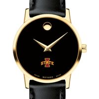 Iowa State University Women's Movado Gold Museum Classic Leather