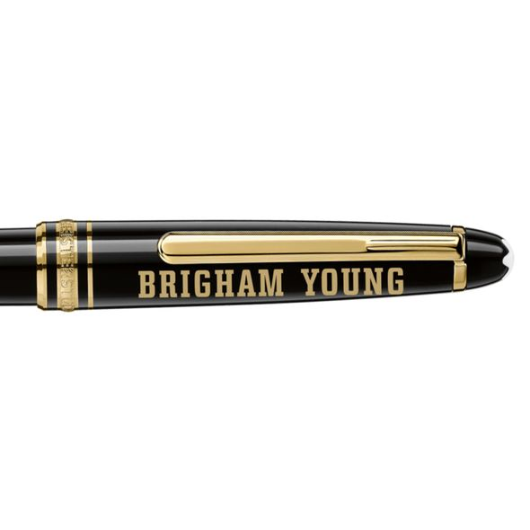 Brigham Young University Montblanc Meisterstück Classique Ballpoint Pen in Gold - Image 2
