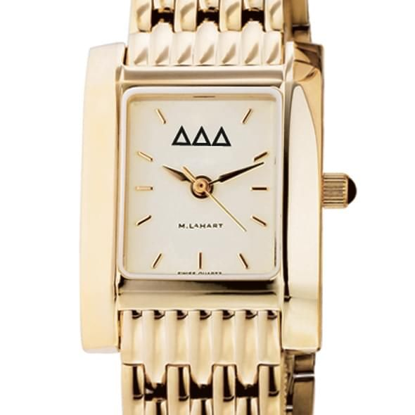Delta Delta Delta Women's Gold Quad Watch with Bracelet - Image 2