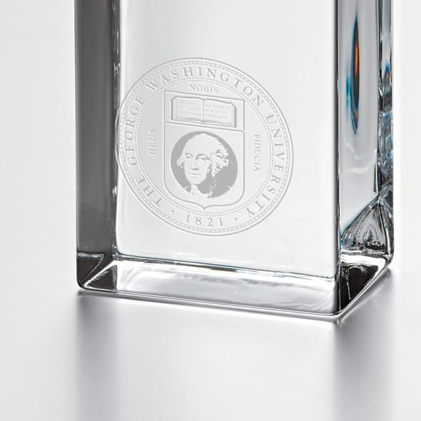 George Washington Tall Glass Desk Clock by Simon Pearce - Image 2