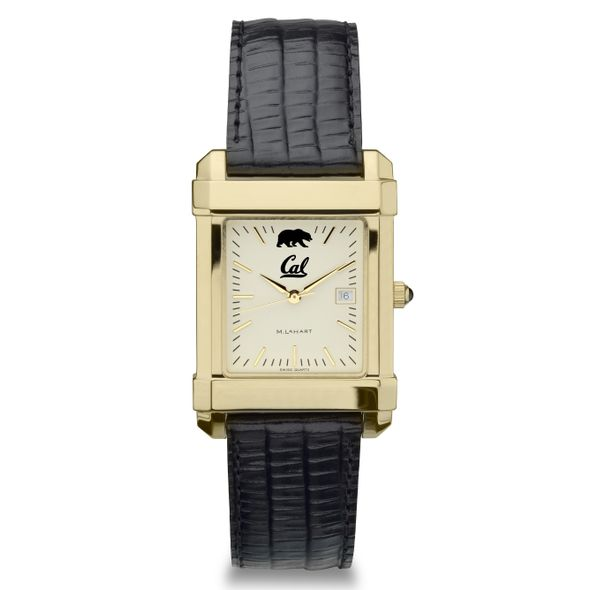 Berkeley Men's Gold Quad with Leather Strap - Image 2