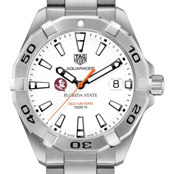 Florida State University Men's TAG Heuer Steel Aquaracer - Image 1