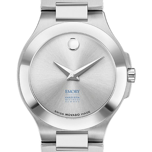 Emory Goizueta Women's Movado Collection Stainless Steel Watch with Silver Dial - Image 1