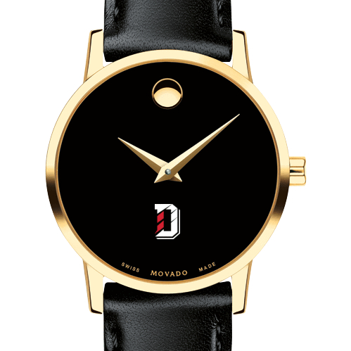 Davidson College Women's Movado Gold Museum Classic Leather