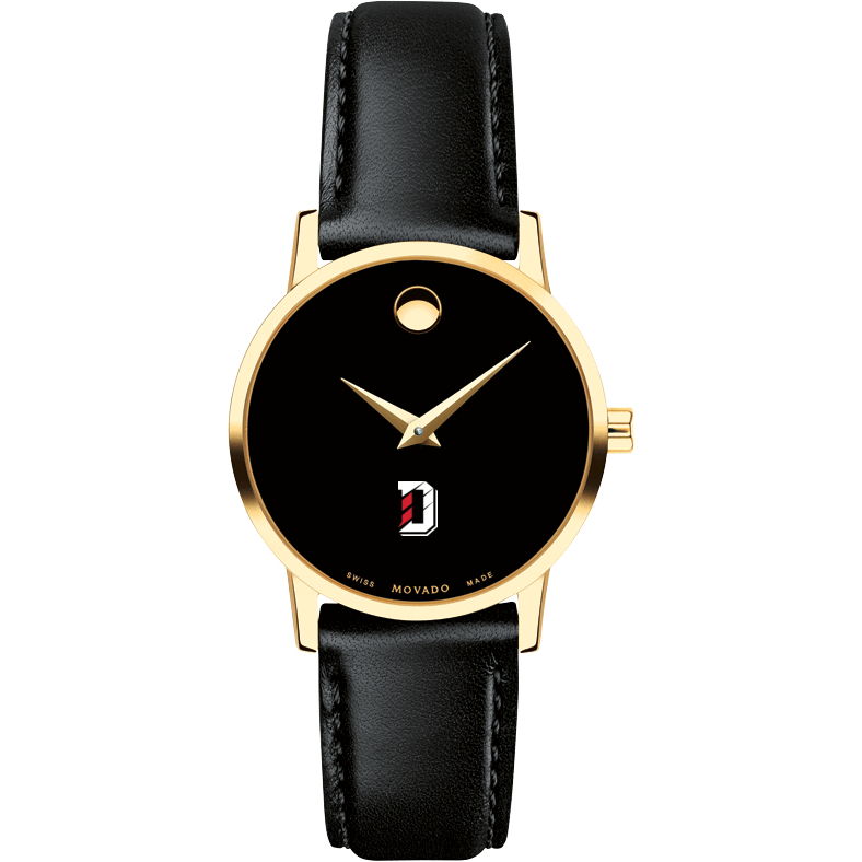 Davidson College Women's Movado Gold Museum Classic Leather - Image 2
