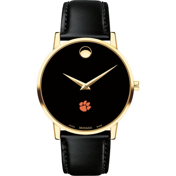 Clemson Men's Movado Gold Museum Classic Leather - Image 2