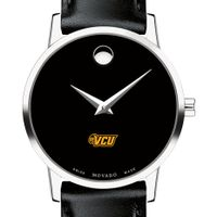 Virginia Commonwealth University Women's Movado Museum with Leather Strap