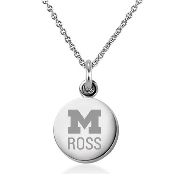 Michigan Ross Necklace with Charm in Sterling Silver