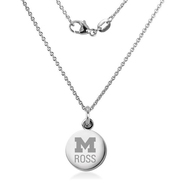 Michigan Ross Necklace with Charm in Sterling Silver - Image 2