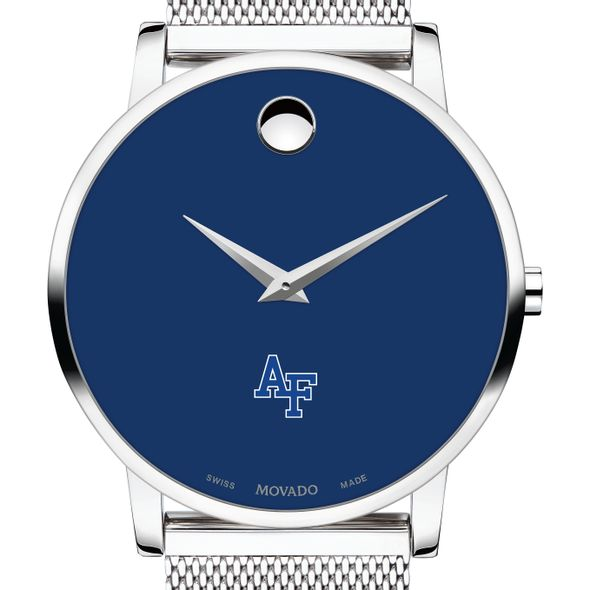 US Air Force Academy Men's Movado Museum with Blue Dial & Mesh Bracelet