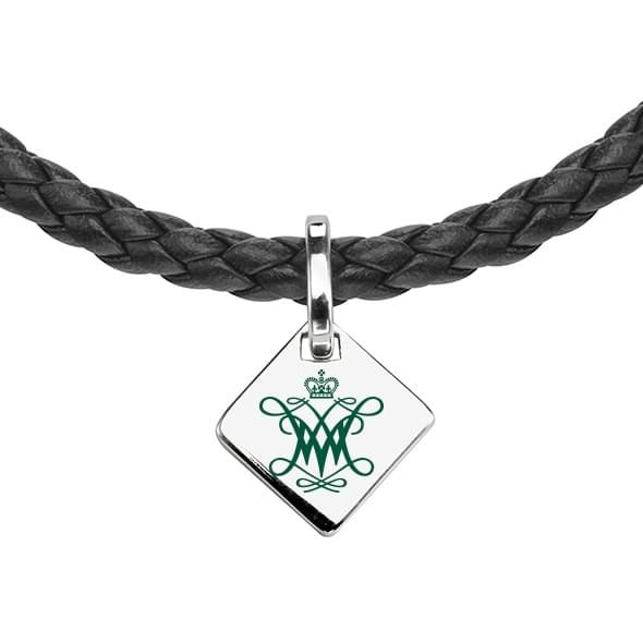 College of William & Mary Leather Necklace with Sterling Silver Tag - Image 2