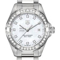 Emory Goizueta Women's TAG Heuer Steel Aquaracer with MOP Diamond Dial & Bezel