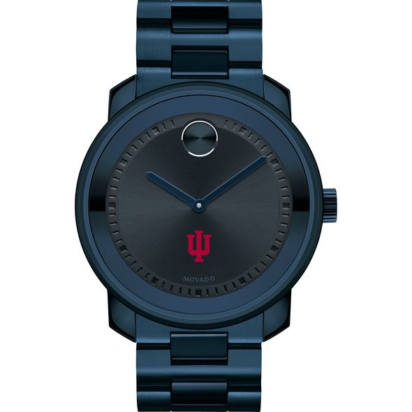Indiana University Men's Movado BOLD Blue Ion with Bracelet - Image 2