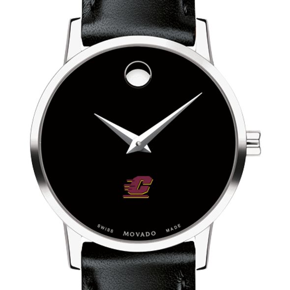 Central Michigan Women's Movado Museum with Leather Strap
