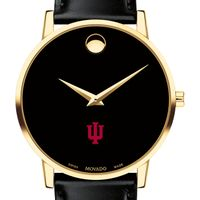 Indiana University Men's Movado Gold Museum Classic Leather