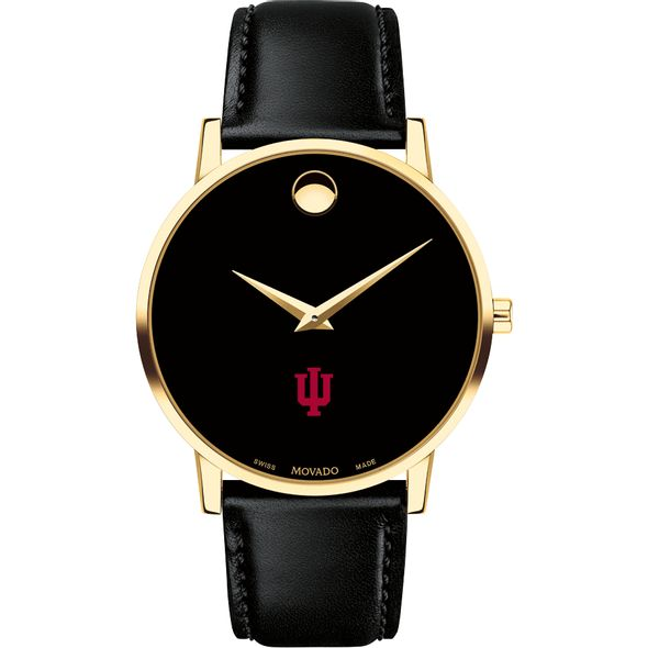 Indiana University Men's Movado Gold Museum Classic Leather - Image 2