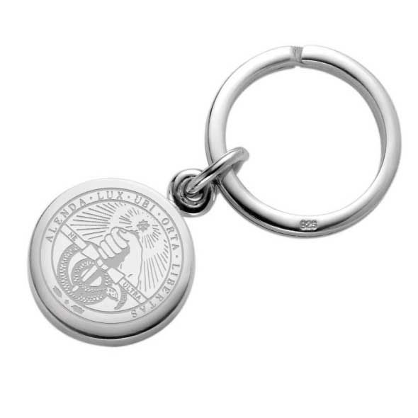 Davidson College Sterling Silver Insignia Key Ring - Image 1