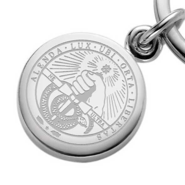 Davidson College Sterling Silver Insignia Key Ring - Image 2