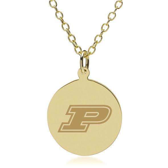 Purdue University 18K Gold Pendant & Chain