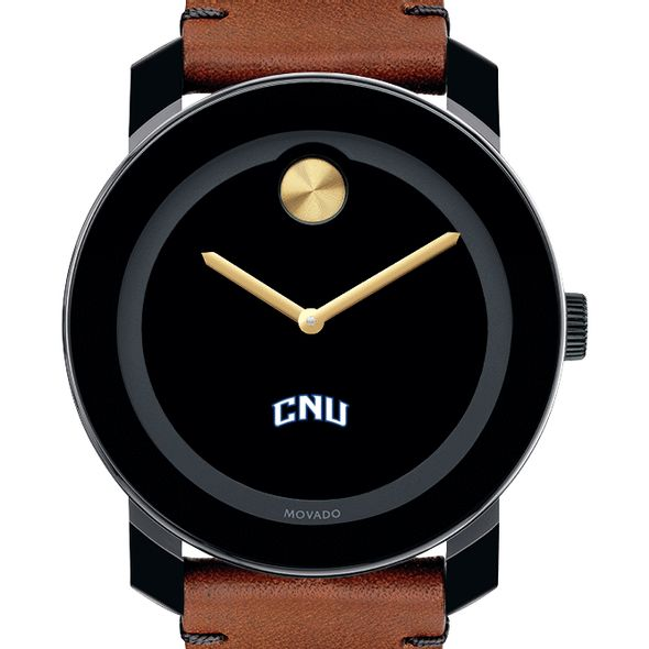 Christopher Newport University Men's Movado BOLD with Brown Leather Strap