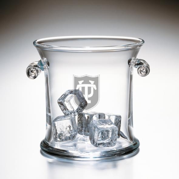 Tulane Glass Ice Bucket by Simon Pearce