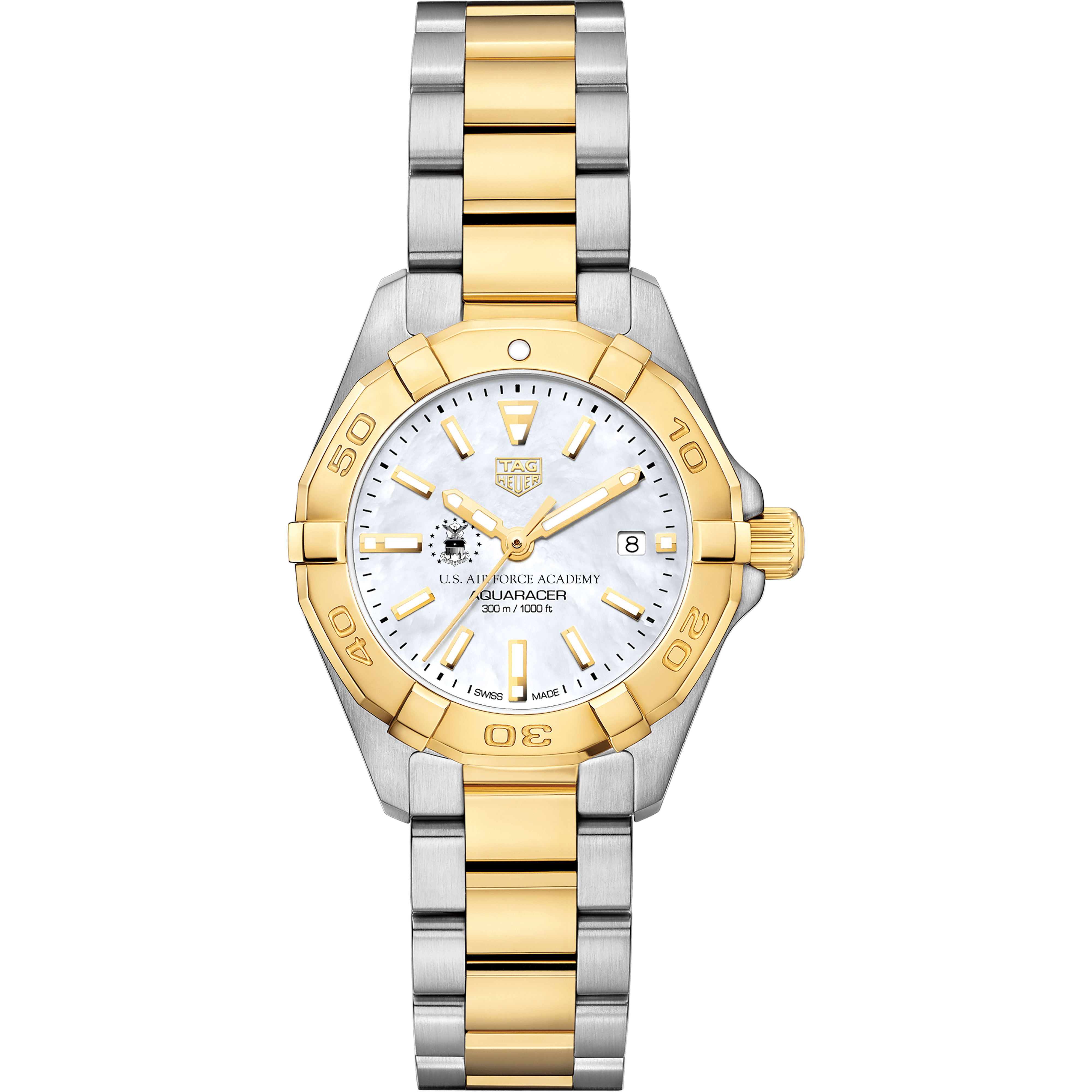 US Air Force Academy TAG Heuer Two-Tone Aquaracer for Women - Image 2