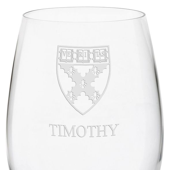 Harvard Business School Red Wine Glasses - Set of 4 - Image 3