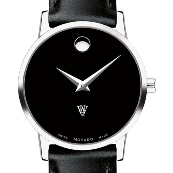 WashU Women's Movado Museum with Leather Strap