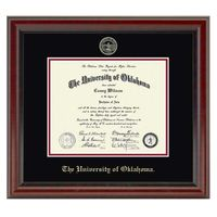 Oklahoma Ph.D. Diploma Frame, the Fidelitas