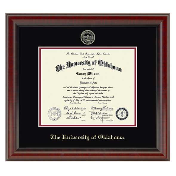 Oklahoma Ph.D. Diploma Frame, the Fidelitas