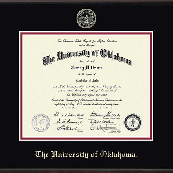 Oklahoma Ph.D. Diploma Frame, the Fidelitas - Image 2