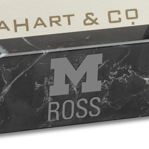 Michigan Ross Marble Business Card Holder - Image 2