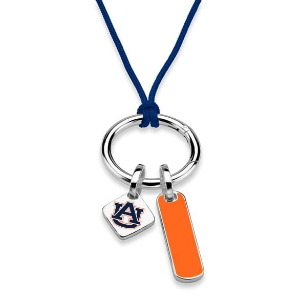 Auburn University Silk Necklace with Enamel Charm & Sterling Silver Tag - Image 2