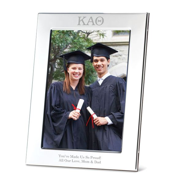 Kappa Alpha Theta Polished Pewter 5x7 Picture Frame - Image 1
