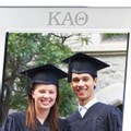 Kappa Alpha Theta Polished Pewter 5x7 Picture Frame - Image 2