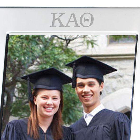 Kappa Alpha Theta Polished Pewter 5x7 Picture Frame - Image 2