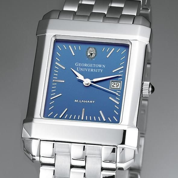Georgetown Men's Blue Quad Watch with Bracelet