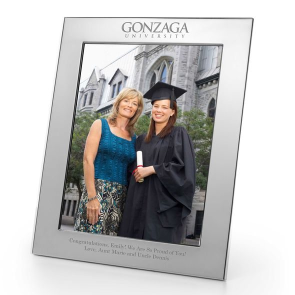 Gonzaga Polished Pewter 8x10 Picture Frame