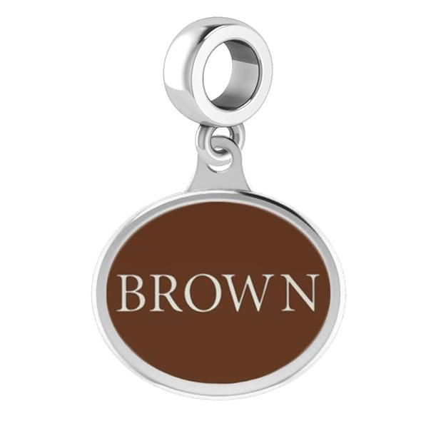 Brown Round Enameled Drop Charm - Image 2