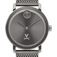University of Virginia Men's Movado BOLD Gunmetal Grey with Mesh Bracelet