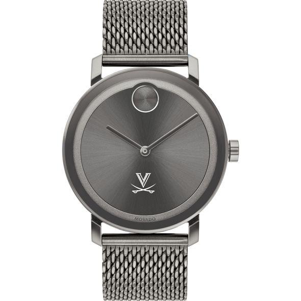 University of Virginia Men's Movado BOLD Gunmetal Grey with Mesh Bracelet - Image 2