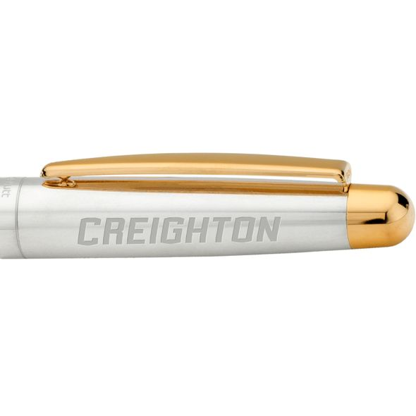 Creighton Fountain Pen in Sterling Silver with Gold Trim - Image 2