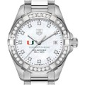 University of Miami W's TAG Heuer Steel Aquaracer with MOP Dia Dial & Bezel - Image 1